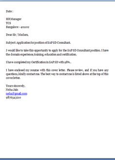 It Covering Letter  Cover Letter Sample Pdf