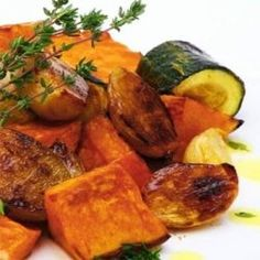 roast vegetables from the night before