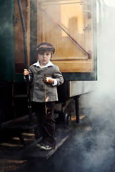 Little boy on a steam train by Tatyana Tomsickova on 500px