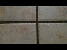 How to clean grout. It can be a lot of work to clean soiled tile grout. But using this method its a breeze!