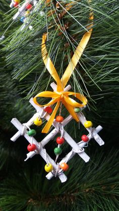 Set of 10 ornaments, Christmas decoration, Christmas ornament, Christmas Tree Ornament, Christmas ornament with sticks