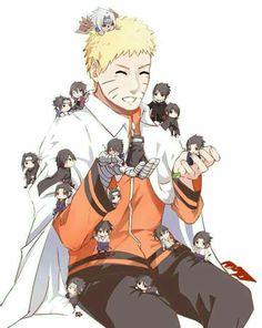 Naruto and chibi Sasuke Naruto Vs Sasuke, Anime Naruto, Naruto Comic, Naruto Shippuden Anime, Sakura And Sasuke, Otaku Anime, Sasuke Chibi, Narusasu, Sasunaru