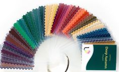 45 beautiful, laminated fabric colour swatches for Deep Autumn Individual colour…