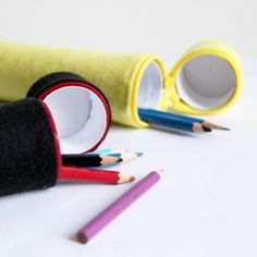 Turn your empty toilet rolls into these cute pencil cases with this easy step by step tutorial.