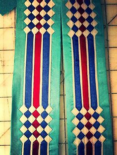 going old school Osage design folded ribbon work southern straight dance suit