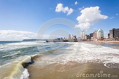Image of durban, waves - 49830857 Ocean Beach Pier, Ocean Waves, Beaches, Buildings, Places To Visit, Hotels, Stock Photos, Landscape, Water