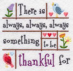 Always Something to Be Thankful For design (K2408) from www.Emblibrary.com