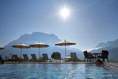 Abendstimmung im Hotel Post in Lermoos/Tirol