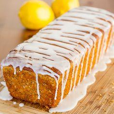 Lemon Poppy Seed Bread with Lemon Icing | http://www.jocooks.com/bakery/breads/lemon-poppy-seed-bread-lemon-icing/