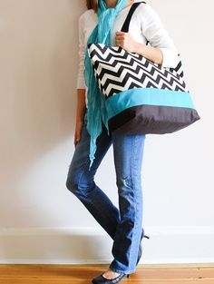 Extra Large Beach Bag...need this for the summer...and it's my wedding colors!! awww <3