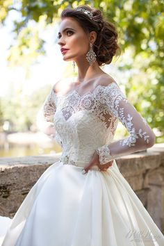Long Sleeves Wedding Dresses Sheer Neckline Appliques Sweep Train Chapel Country Bridal Gowns Vestido De Noiva Plus Size Cheap 2019 Aline Wedding Gowns, Sheer Wedding Dress, 2016 Wedding Dresses, Country Wedding Dresses, Wedding Dress Sleeves, Long Sleeve Wedding, Princess Wedding Dresses, Bridal Dresses, Gown Wedding