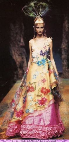 Christian Lacroix, something  tells me this just isn't the dress!
