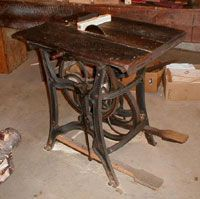 Treadle Powered Table Saw Sale Number 2623m Lot Number