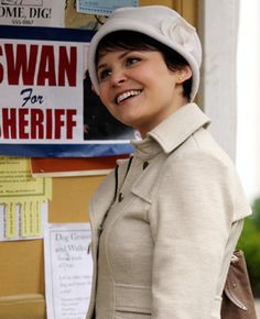 TV Fashion * Show: Once Upon a Time * Actress: Ginnifer Goodwin * Character: Snow White / Mary Margaret * Coat: Nanette Lepore