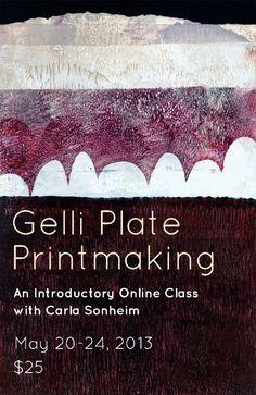 Gelli Plate printmaking with Carla Sonheim