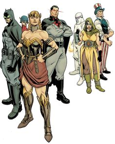 The Multiversity: Mastermen #1 - Uncle Sam and The Freedom Fighters (Ray, Black Condor, Doll Man & Doll Woman, Human Bomb and Phantom Lady) by Mike Hawthorn *