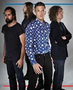 Love the star shirt! The Killers that shirt. Is this his only concert shirt? Sound Of Music, Music Love, Music Is Life, My Music, Brandon Flowers, Love Band, Cool Bands, Mr Brightside, Music Genius