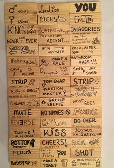 "Trinkspiel Jenga - # - Trinkspiel Jenga - # - ""Simply no, otro estúpido juego para fomentar el espíritu p equipo no"", dijo el empleado disgustado. Cuando este pensamiento pase por are . Drinking Jenga, Drinking Board Games, Drinking Games For Parties, Simple Drinking Games, Best Drinking Games, Friends Drinking Game, Outdoor Drinking Games, Games For Teens, Adult Games"