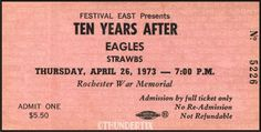 Five THE EAGLES unused paper replica concert tickets Collect, Scrapbook,made in the USA Eagles Tickets, Concert Tickets, Concert Posters, Admit One, Rock And Roll, The Outsiders, Paper, Usa, Scrapbooking