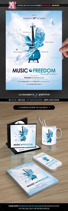 Music Is Freedom Poster/Flyer