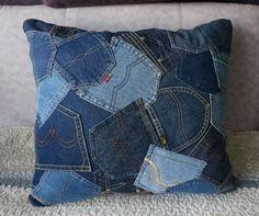 джинсовые подушки и ковры