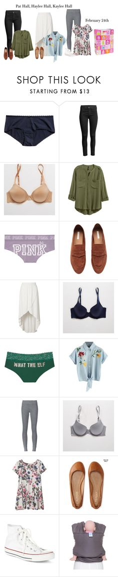 """""""Autumn's Baby Shower"""" by our-poly-friends ❤ liked on Polyvore featuring Aerie, H&M, Victoria's Secret, ATM by Anthony Thomas Melillo, Monki, Aéropostale and Converse"""