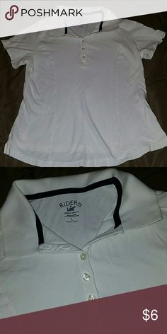 Riders by Lee Slimming Polo Size Large Like new, great for school uniform! Riders by Lee  Tops Tees - Short Sleeve