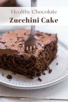 Decadent Chocolate Zucchini Cake that's so delicious, moist, easy to make, and bursting with chocolate flavor. This chocolate cake is the perfect guilt-free treat that the whole family can enjoy and can be ready in just about 30 minutes. #glutenfree #healthycake #healthychocolatecake #chocolatecake #zucchinicake via @healthyfitnessmeals Healthier Desserts, Healthy Cake, Healthy Baking, Delicious Desserts, Decadent Chocolate, Healthy Chocolate, Chocolate Flavors, Chocolate Cake, Sugar Free Chocolate