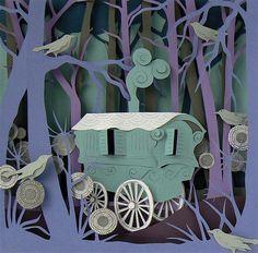 """""""Romany Caravan"""" by Helen Musselwhite"""