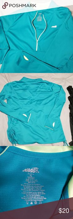 Athletic pullover w/ bonus black tank 100% polyester XL Avia athletic pullover. Half zip. Lightweight. Thumb holes! Empire waist seem. Adjustable side rouching. Comes with bonus black XL Avia racer back tank. ✖From a smoke free home  🛍Bundle with at least one other item for a discount! Avia Jackets & Coats