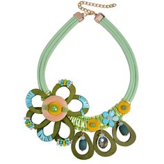 2017 Spring Unique Crochet Wood Flower Alloy Pendant Necklace Ethnic Choker Chunky Pendant Long Leather Necklace For Women Knot Necklace, Green Necklace, Necklace Types, Leather Necklace, Pendant Necklace, Newborn Gas, Flower Power, Unique Crochet, Expensive Jewelry