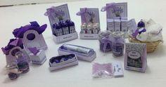 Dolls House Miniatures - Lavender Toiletries Collection