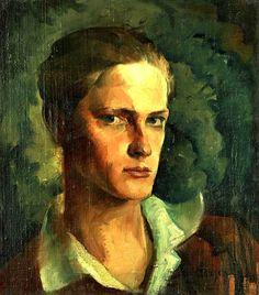 Holesch Dénes/ Fiatalkori önarckép (Besztercebánya 1910- Budapest 1983)