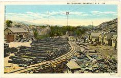 Granville NY, Slate 1920s Photograph - Slate Quarry #34  - NYGR0401 - Richard Clayton Photography - Cambridge Photo - Vintage Photographs