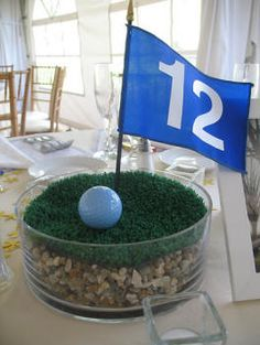 Sports theme table center | Sports Themed Weddings - Sports Themed Wedding Reception Centerpieces Keywords: #weddings #jevelweddingplanning Follow Us: www.jevelweddingplanning.com  www.facebook.com/jevelweddingplanning/