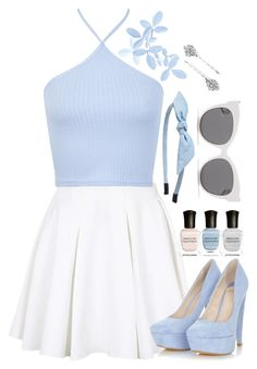 """I cannot hide what's on my mind"" by hevsyblue2 ❤ liked on Polyvore featuring Topshop, Miss Selfridge, Deborah Lippmann, Blanc & Eclare, 1928 and Cara"