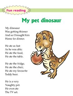 literature-grade 1-fairy tales- my pet dinosaur