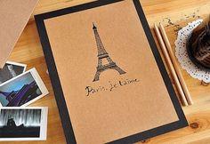 Korea DIY Kraft Paper Vintage Scrapbook Album Photo by JolinTsai