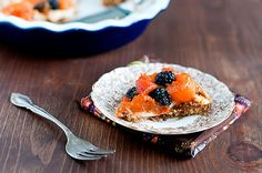 mostly raw vegan apricot blackberry pie