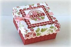 "Splitcoaststampers - 3"" x 3"" Note card box Project Tutorial by Laurie Schmidlin"