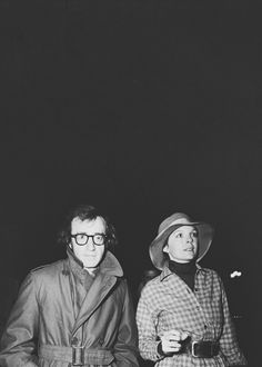 Woody Allen & Diane Keaton in Paris, 1974.