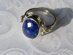 Silver Lapis Lazuli Ladies Ring, Lapis Lazuli Ring, Lapis Ring, Lapis Jewelry, Silver Lapis Ring, Artisan Lapis Ring, Silver Artisan Ring, Gemstone Ring