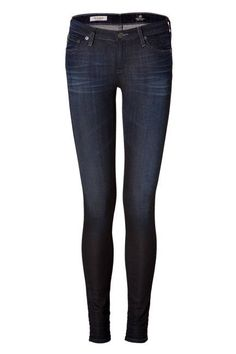 The Dark Skinny Adriano Goldschmied The Super Skinny Jean Leggings, $300;  Read more: 100 Denim and Jeans Trends for 2013 - Womens Designer Denim - ELLE  Follow us: @ElleMagazine on Twitter | ellemagazine on Facebook  Visit us at ELLE.com