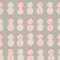 Cotton + Steel : Noel : Neon Snow Babies by Sarah Watts : the workroom Kids Rugs, Cute, Baby, Cotton, Home Decor, Noel, Decoration Home, Kid Friendly Rugs, Room Decor