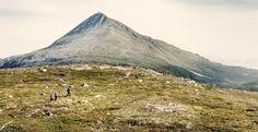 Gaustatoppen the highest mountain in  Telemark, Norway