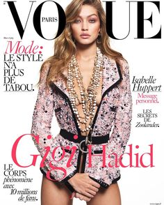 """What an honor and dream come true it is to be on the cover of French Vogue. Thank you so much @mertalas @emmanuellealt """