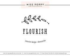 Boutique Pre Made Logo Design / Custom Branding by MissPoppyDesign, $40.00
