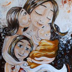 mother and child art - moments of motherhood captured in paint on canvas. Original art for sale, featuring mother and son, mother and daughter, family portraits and emotion. Mother Daughter Art, Mother Art, Mother And Child, Mom Tattoo Designs, Family Drawing, Woman Sketch, Trippy Wallpaper, Baby Room Art, Original Art For Sale