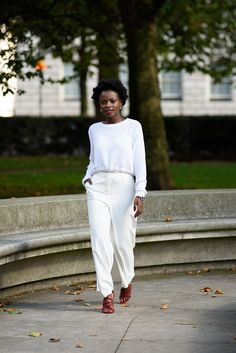 NEW YEAR, NEW GOALS, NEW LOOK - Novelty Eye  | all white outfit | style | natural hair | curly hair