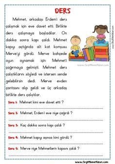 Turkish Language, Reading Passages, Nasa, Worksheets, Learning, Kids, Young Children, Children, Studying